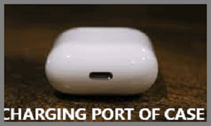 charging port of the AirPods case